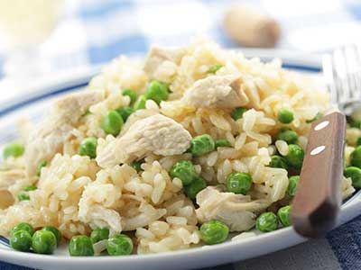 Rice and Pea Pilaf