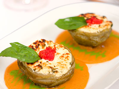 Stuffed Artichoke Bottoms