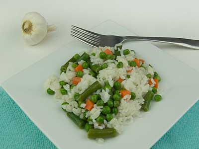 Risotto with Peas, Carrots & Green Beans
