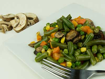 Sautéed Mixed Vegetables with Corn